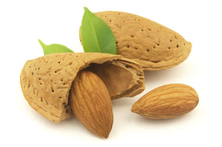 kernel: Almond and kernel Stock Photo