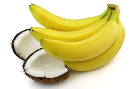 Cocos with banana Stock Photo