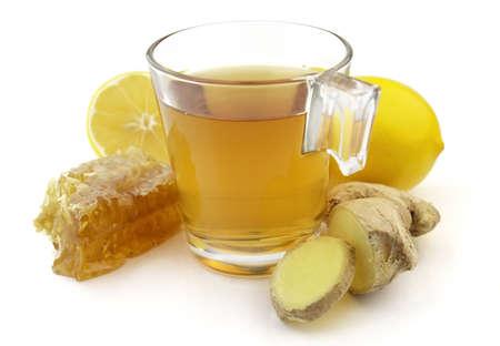 Ginger tea with honey Stock Photo - 5924333
