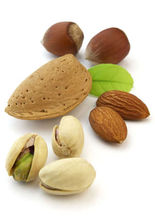 Almonds and hazelnuts with pistachio Stock Photo - 6098421