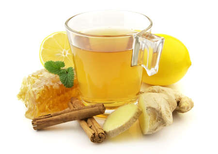 Ginger tea with honey and lemon Stock Photo - 6294266