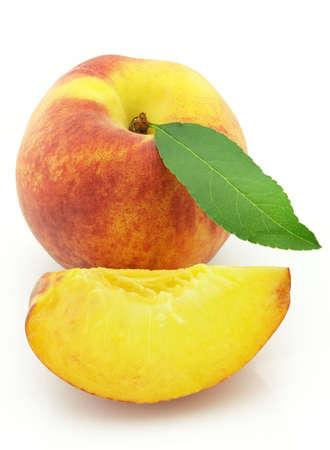 Sweet and ripe peach photo