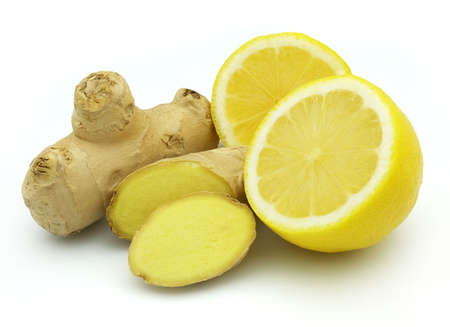 Ginger with lemon Stock Photo