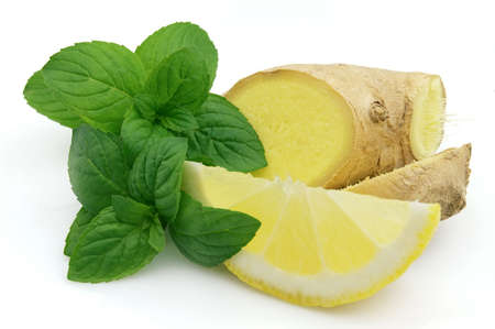 Fresh mint ginger and lemon Stock Photo - 7768932
