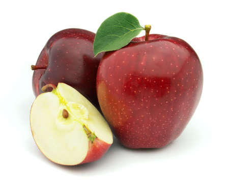 apple red: Red apples Stock Photo