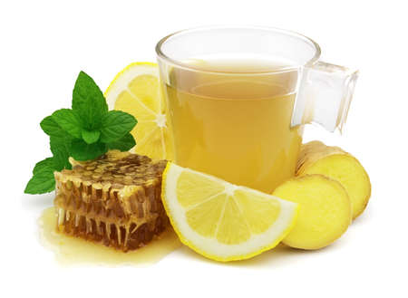 Tea with ginger lemon and honey Stock Photo - 7882937