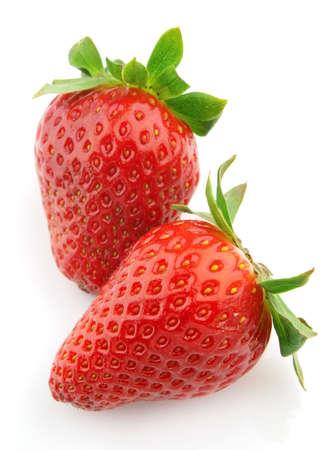 Ripe juicy strawberry photo