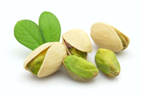nutshells: Fresh pistachio Stock Photo