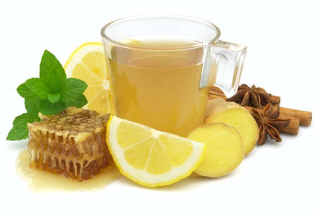 Healthy ginger tea photo