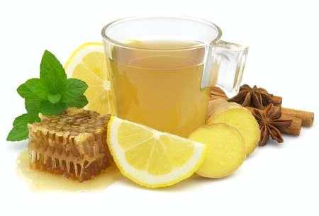 Zdrowe imbir herbaty Zdjęcie Seryjne