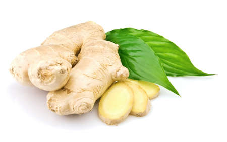 Ginger with leaves Stock Photo - 8577777