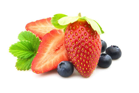 Blueberry with strawberry. Fresh berries Stock Photo - 8577769