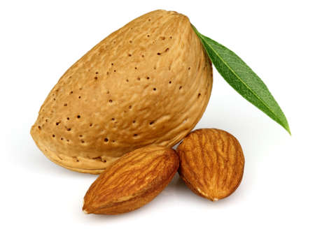 kernel: Almonds with kernel Stock Photo