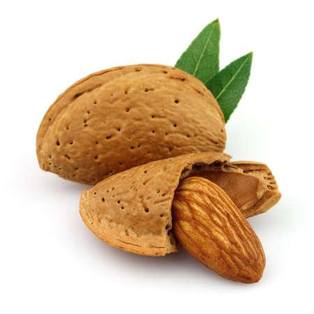 Dried almonds in closeup