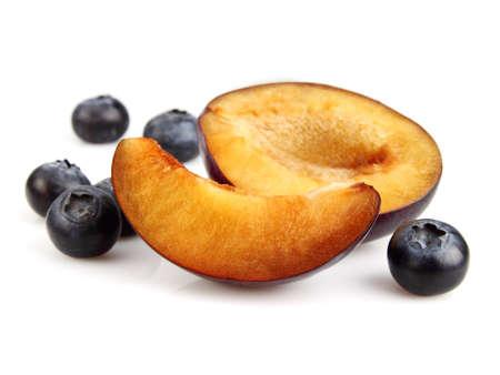 Blueberry with plum photo