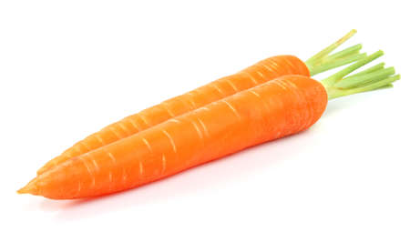 Fresh carrot on a white background photo