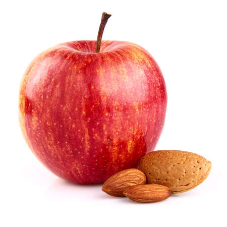 Apple with almonds photo
