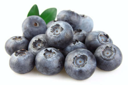 Heap of ripe blueberry photo