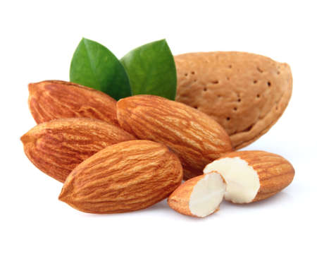 Almonds with kernels. Use it for a health concept. photo