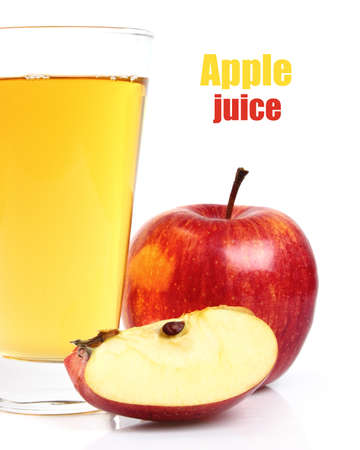 Apple juice with apple fruit
