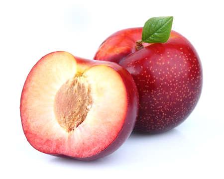 ciruela pasa: Ripe plum en primer