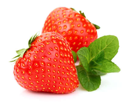 Strawberry with mint Stock Photo - 13255085