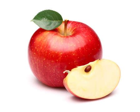 pomme rouge: Pomme douce avec une tranche de Banque d'images
