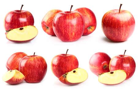 pomme rouge: Collage à partir de pommes
