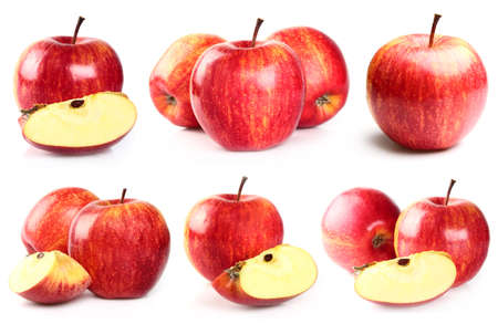 apple red: Collage from apples