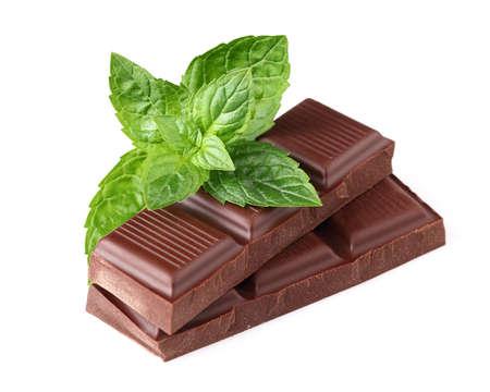 chocolate mint: Chocolate with fresh mint
