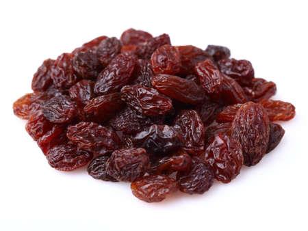 Dried raisins on a white background Stock Photo - 15439302