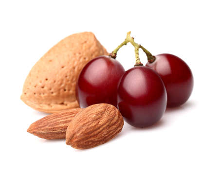 Almonds with grapes Stock Photo - 15439295