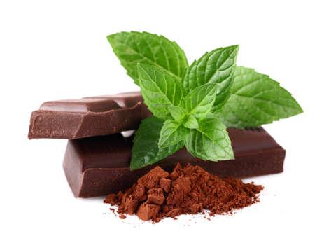 Chocolade met mint Stockfoto