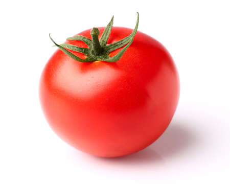 Ripe fresh tomato in closeup photo