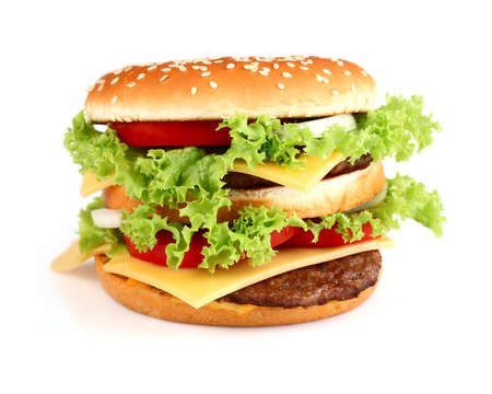 Hamburger on a white background photo