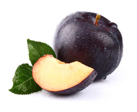 Sweet juicy plum photo