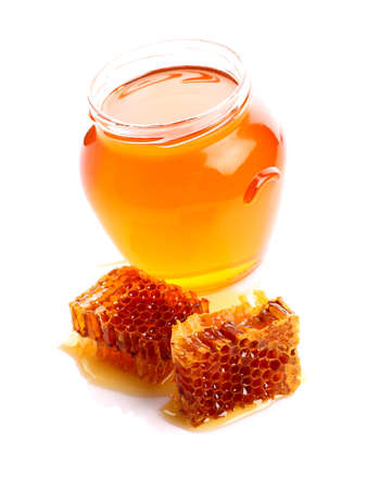 Fresh honeycombs Stock Photo