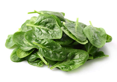 Heap of spinach leaves