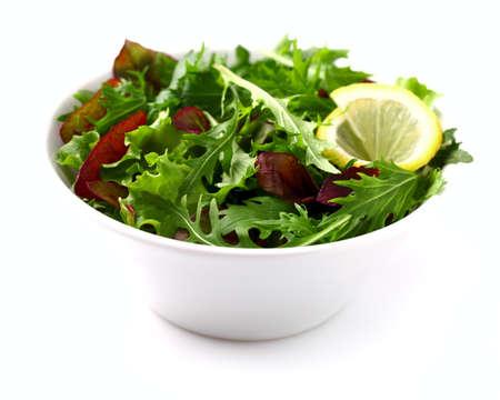 Fresh salad with lemon