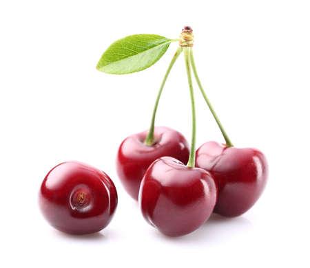 plant sweet: Sweet ripe cherry Stock Photo