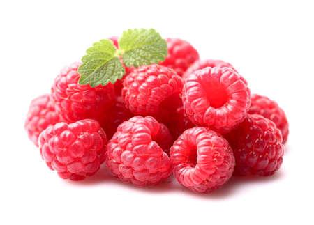 melissa: Raspberry with melissa Stock Photo