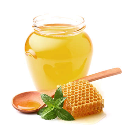honey cell: Honey with mint