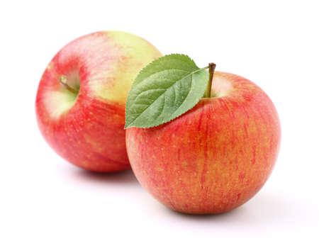 Twee rijpe appels Stockfoto