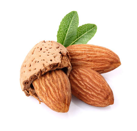 Almonds in closeup Stock Photo