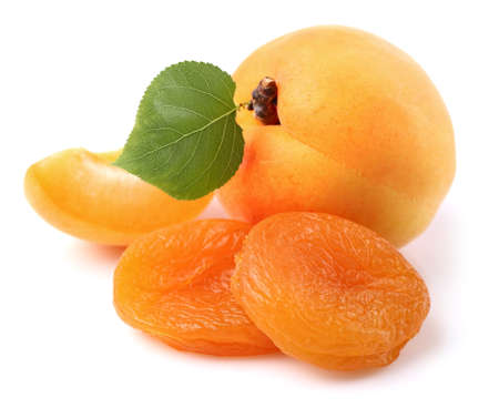 dried leaf: Apricots with leaf