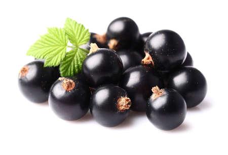 Zwarte bessen met bladeren