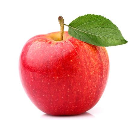 葉と赤いリンゴ