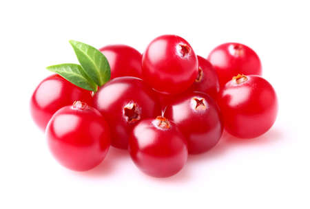 cranberry: Cranberry with leaf