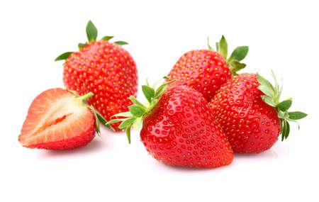 Strawberries in closeup