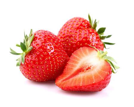 Verse aardbeien Stockfoto